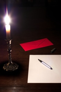 letter candlelight