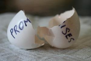 broken promises-egg