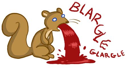 Squirrel vomit